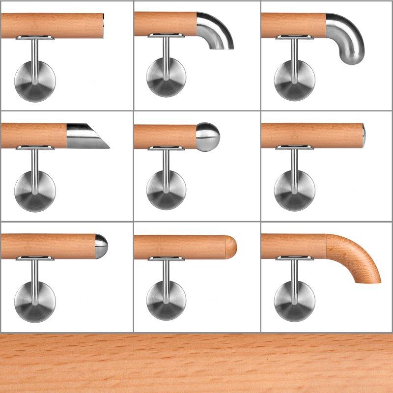 buche leicht ged mpft holzhandlauf 42 4 mm holz handlau. Black Bedroom Furniture Sets. Home Design Ideas