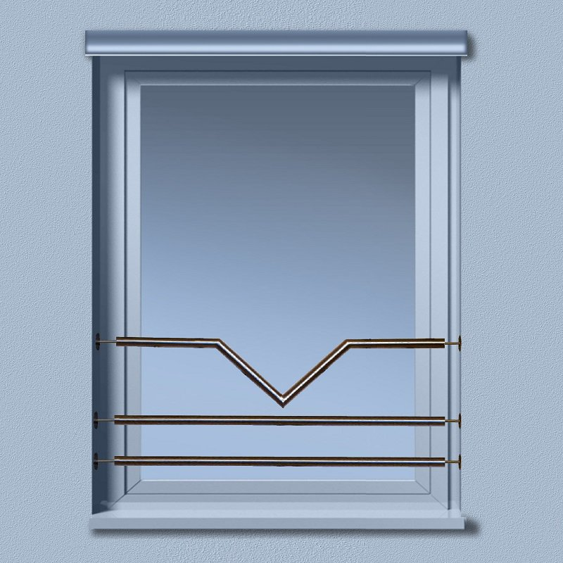Edelstahl v2a fenster absturzsicherung gel nder for Fenster 3 teilig
