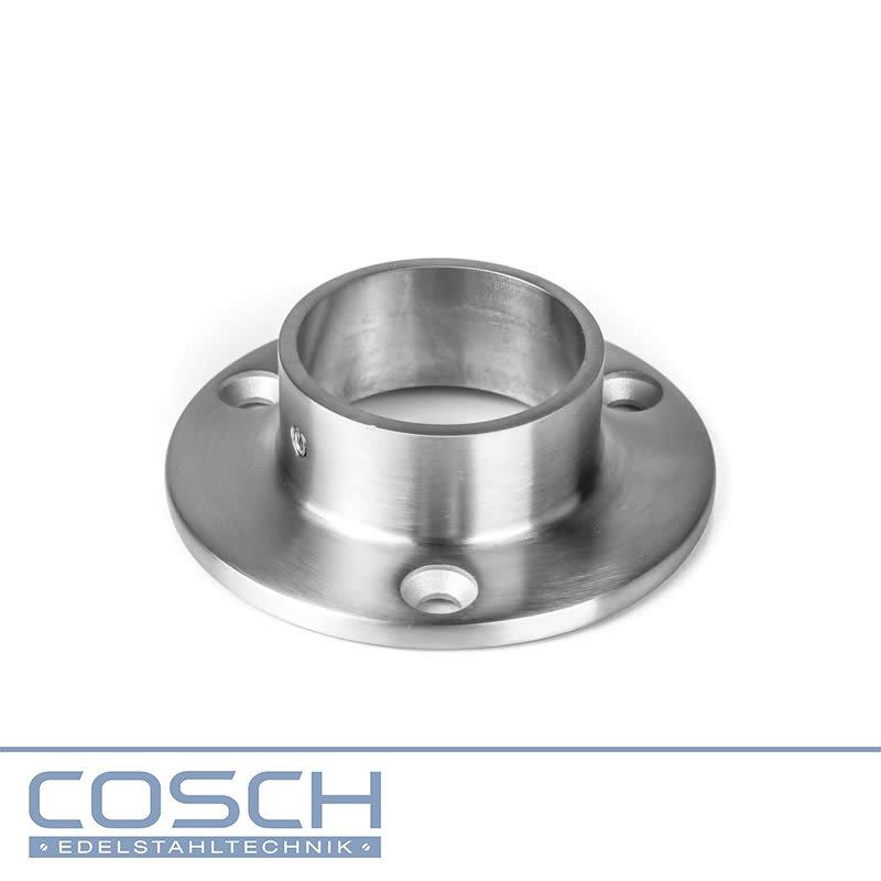 Edelstahl Flansch platte für Rund Rohr 42,4 V2A Wandflansch Wandanker Fitting