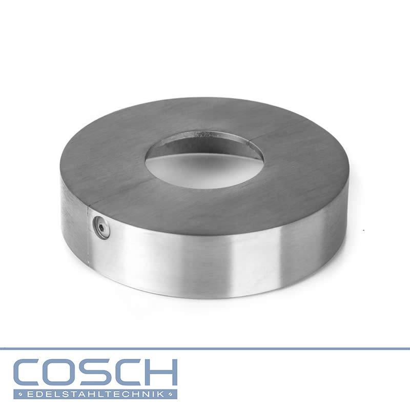 Edelstahl Universaladapterstecker für Holzhandlauf Ø 45,0 mm geschliffen V4A