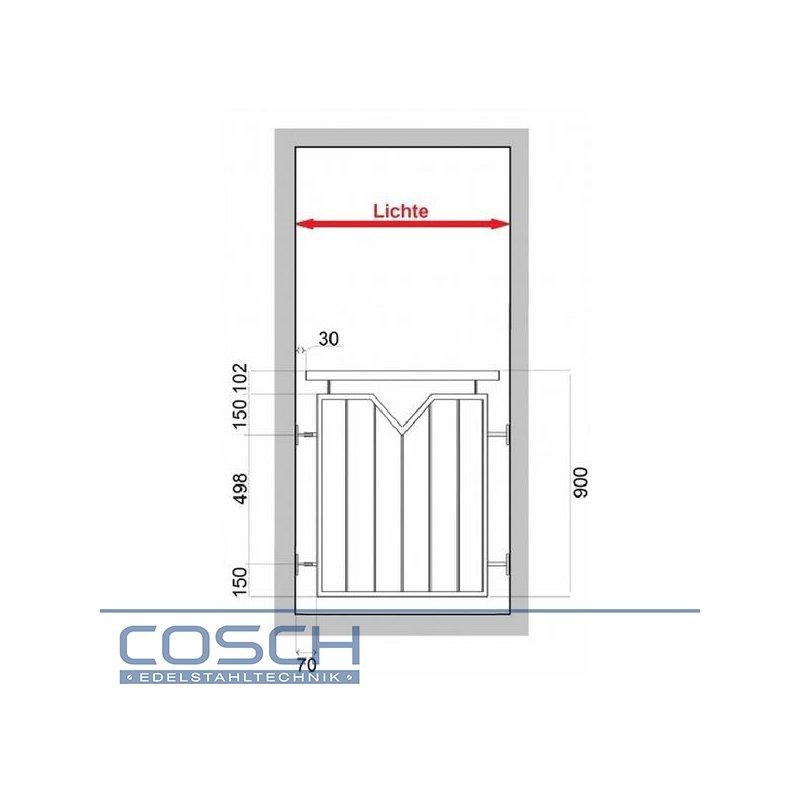 edelstahl v2a franz sischer balkon gel nder stabgel nder. Black Bedroom Furniture Sets. Home Design Ideas