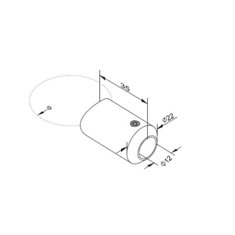 edelstahl v2a geschliffen f llstabhalter rohranschluss 4. Black Bedroom Furniture Sets. Home Design Ideas