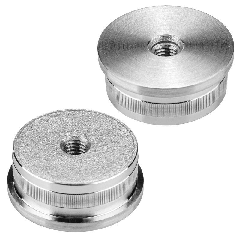 leicht gewölbt 33,7x2,0 mm Edelstahlkappe mit Rändel V4A geschliffen
