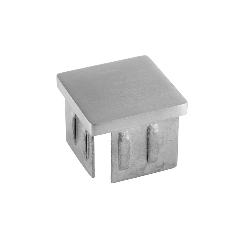 oder Rechteckrohr Edelstahl Endkappe hohl Einsteckkappe VKT V2A für Vierkant