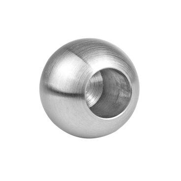 Edelstahl VOLLKUGEL Kugel Edelstahlkugel Ø 30 x 10mm Durchgangsbohrung