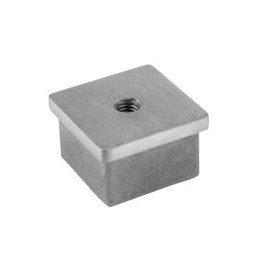 Edelstahl Einsteckkappen für Vierkantrohre hohl 240 K geschliffen V2A